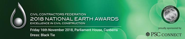 2018 NATIONAL EARTH AWARDS 16th November 2018