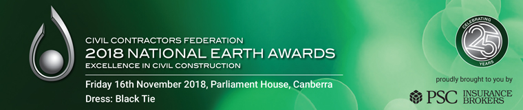 2018 NATIONAL EARTH AWARDS 16th November 2018